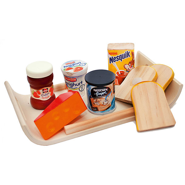 Frühstückstablett modernes frühstückstablett mit spiellebensmittel chr mytoys