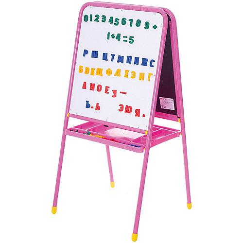 Розовый двусторонний мольберт с буквами, Дэми от Дэми