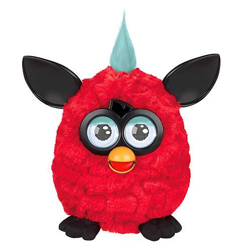 Интерактивная игрушка Furby (Ферби) с хохолком, красный-черный от Hasbro