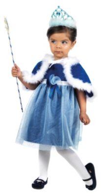Kostüm kleine Prinzessin blau Gr. 104/110 Mädchen Kleinkinder