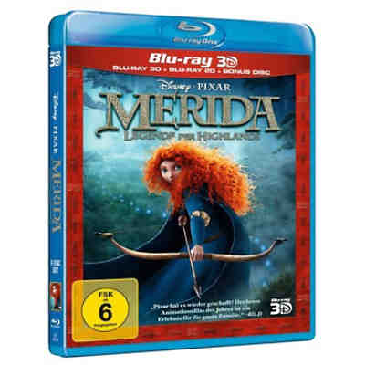 BLU-RAY Disney's - Merida - Legende der Highlands (3D Vers.)