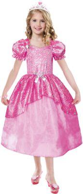 Kostüm Barbie Glitter Ballkleid Gr. 104/116 Mädchen Kleinkinder