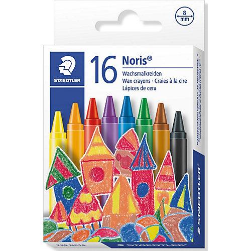 Staedtler Мелки восковые NorisClub, диаметр 8мм, 16цв. от Staedtler