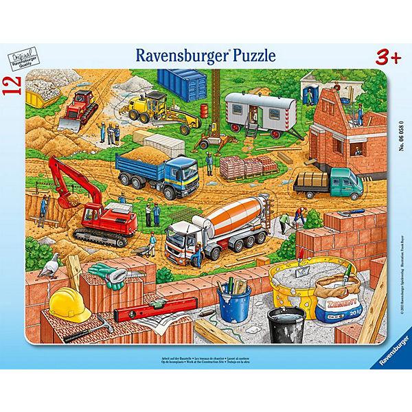 Rahmenpuzzle 12 Teile - Arbeit auf der Baustelle, Ravensburger