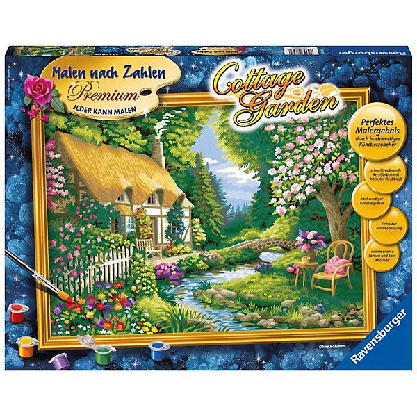 Malen Nach Zahlen Premium 30x40cm Mit Bilderfirnis Cottage Garden Ravensburger
