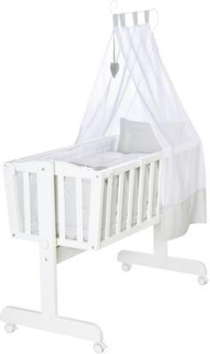 Stubenwagen babyschaukel baby wiege kinder himmel bett komplett