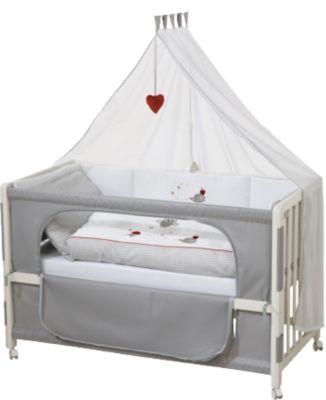 Roba Room Bed Kinderbett Beistellbett Fox /& Bunny 60x120 cm weiß lackiert TOP