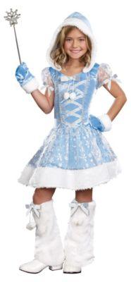 Kostüm Prinzessin Snowflake Gr. 128/140 Mädchen Kinder