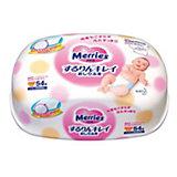 Детские влажные салфетки Merries, 54 шт., пластиковый контейнер