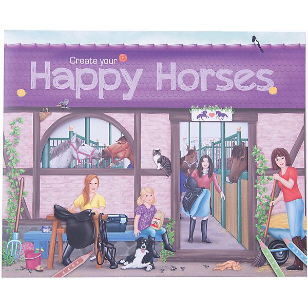 """Альбом с наклейками """"Create your Happy Horses"""", Creative Studio"""