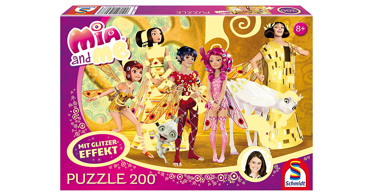 Glitzerpuzzle Mia and Me - Mia im Elfenpalast -...