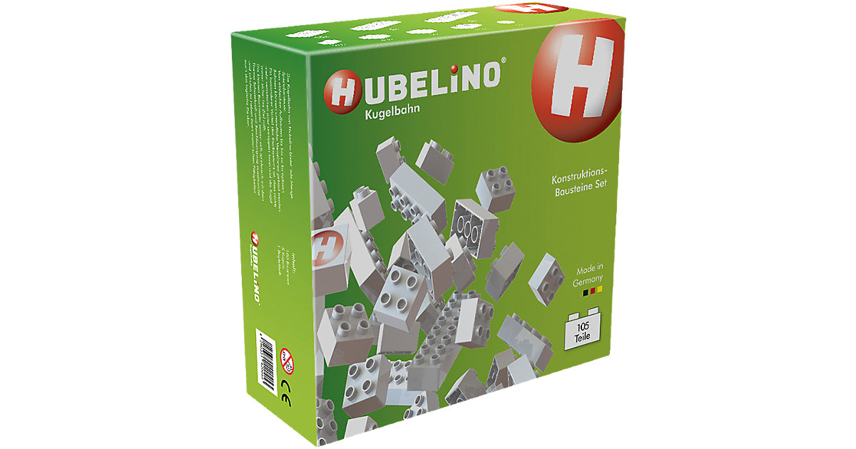 Hubelino - Kugelbahn Konstruktions-Bausteine-Set, 105-tlg.