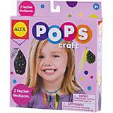 """Набор для творчества POPS CRAFT """"Ожерелья  с цветными перышками"""" ALEX"""