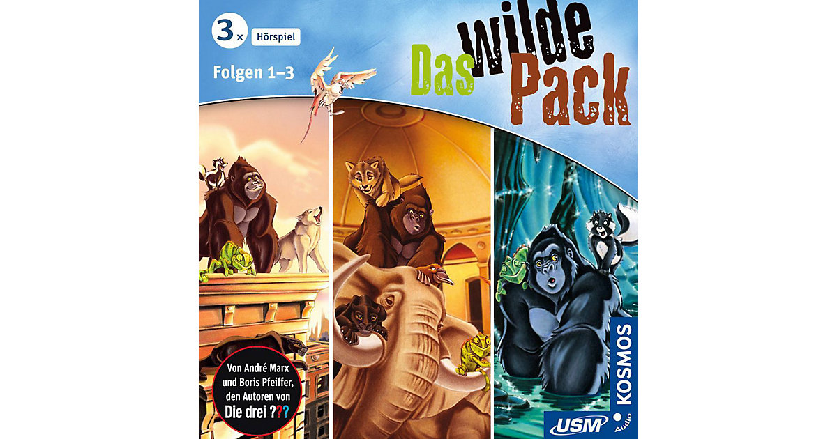 CD Das wilde Pack Hörbox Folgen 1-3 Hörbuch