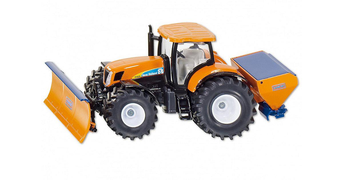 SIKU 2940 Traktor New Holland mit Räumschild 1:50