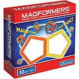 Магнитный конструктор, 12 деталей, MAGFORMERS