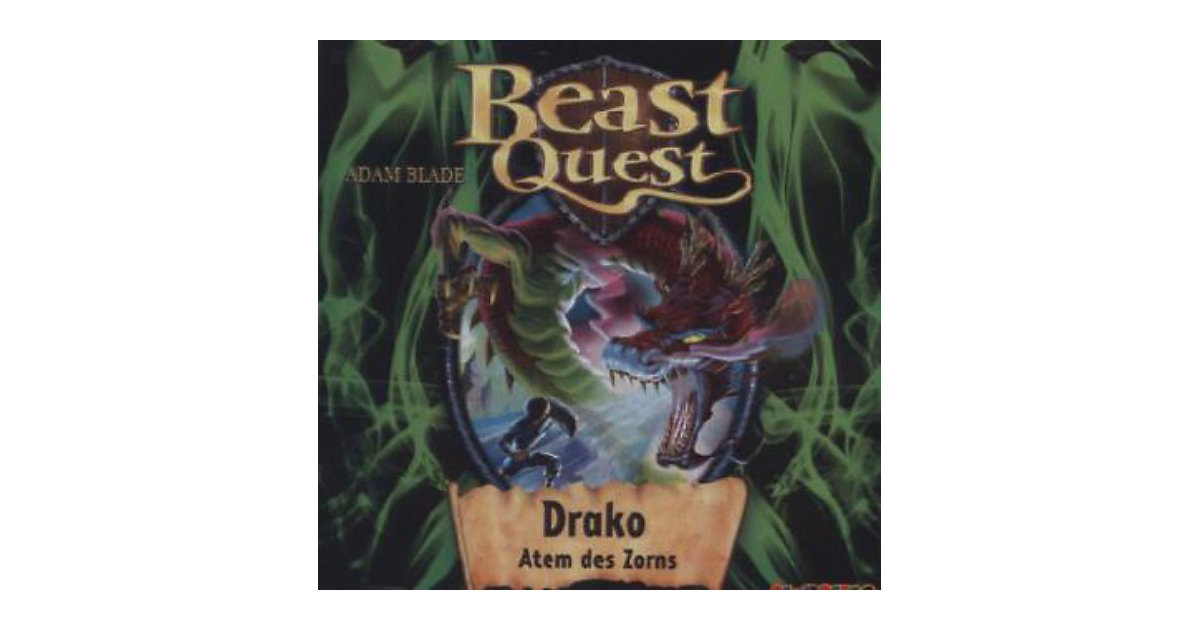 Beast Quest 23: Drako, Atem des Zorns, 1 Audio-CD
