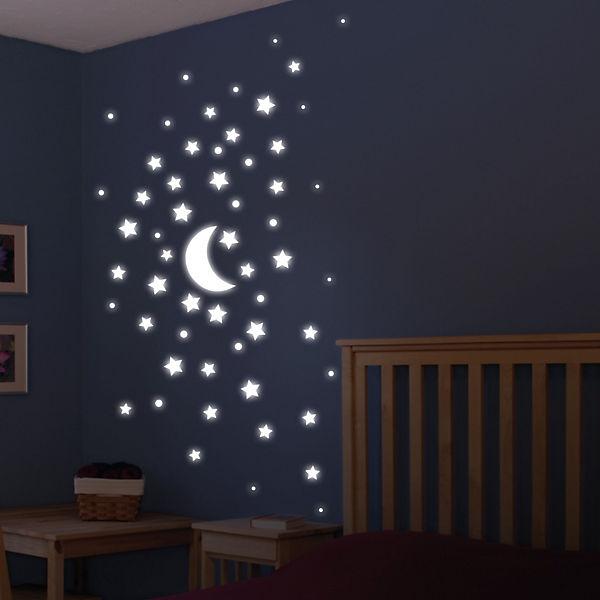 Wandsticker Leuchtsterne, 57 Tlg.