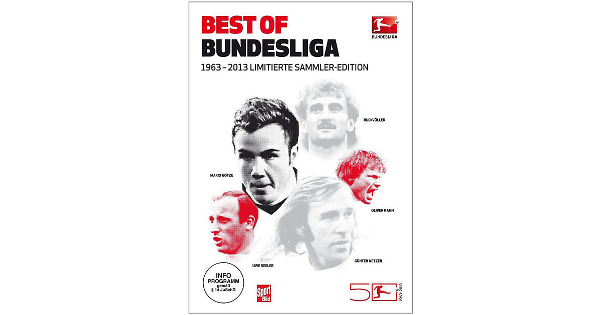 DVD Best of Bundesliga 1963 - 2013 - Sammler-Ed...