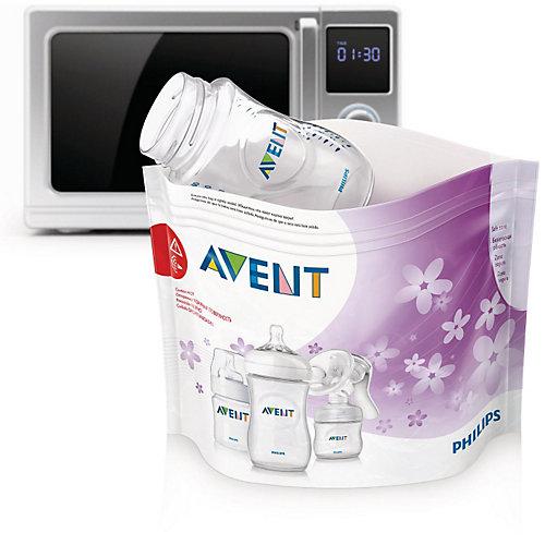 Пакеты для стерилизации в микроволновой печи , 5 шт., AVENT от PHILIPS AVENT