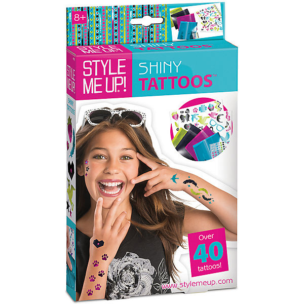 style me up tattoos glitzerstaub à ber 40 teile style me up mytoys