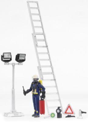 BRUDER 62700 bworld Feuerwehrmann mit Atemschutz und Zubehör