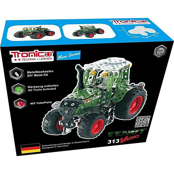 TRONICO Metallbaukasten Metallbaukasten Metallbaukasten Traktor, Fendt 313 VARIO, 1:32, 394tlg., Tronico 453fc7