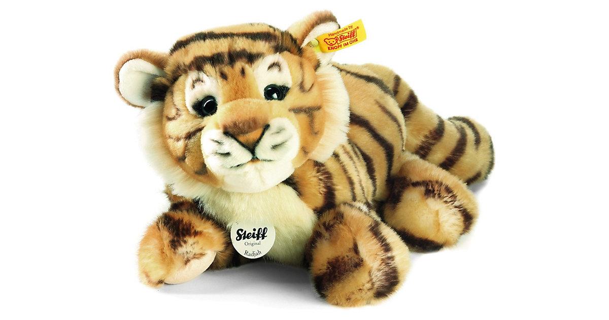 Steiff · STEIFF Radjah Baby-Schlenker-Tiger, 28 cm, liegend