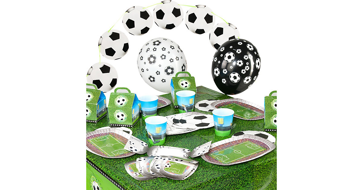 Partyset Soccer/Fußball, 62-tlg.