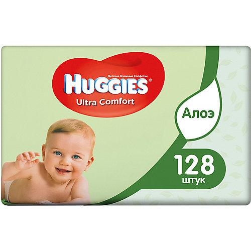 Детские влажные салфетки Huggies Ultra Comfort с Алоэ 2х64, 128 шт. от HUGGIES