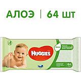 Детские влажные салфетки Huggies Ultra Comfort c Алоэ, 64 шт.