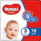 Подгузники Huggies Classic 3 Mega Pack, 4-9 кг, 78 шт.
