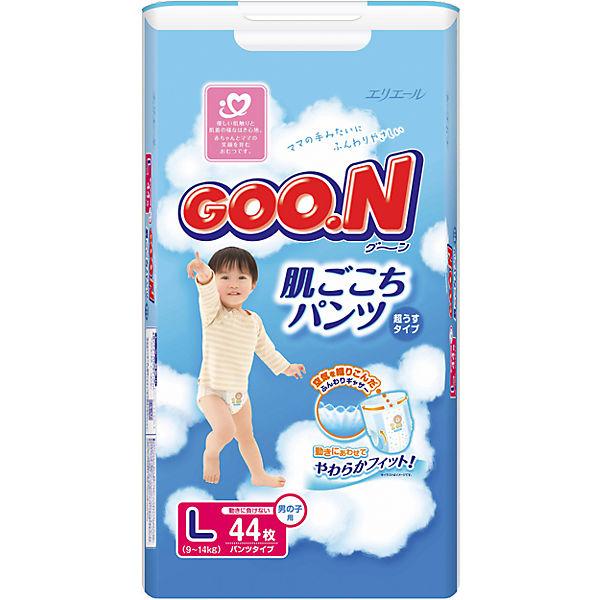 Подгузники-трусики Goon, L 9-14 кг, для мальчиков, 44 шт.