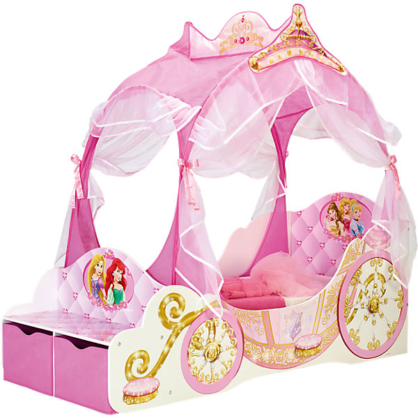 kinderbett disney princess kutsche 70 x 140 cm disney princess mytoys. Black Bedroom Furniture Sets. Home Design Ideas