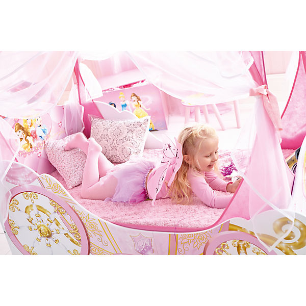 kinderbett disney princess kutsche 70 x 140 cm disney. Black Bedroom Furniture Sets. Home Design Ideas