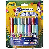 16 мини-тюбиков с блестящим клеем, Crayola