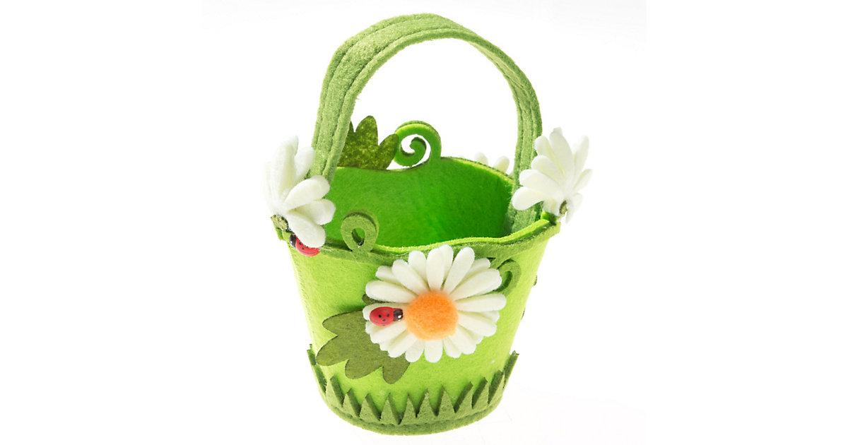 Kreativset Filz-Henkelkörbchen Blume Motiv 2