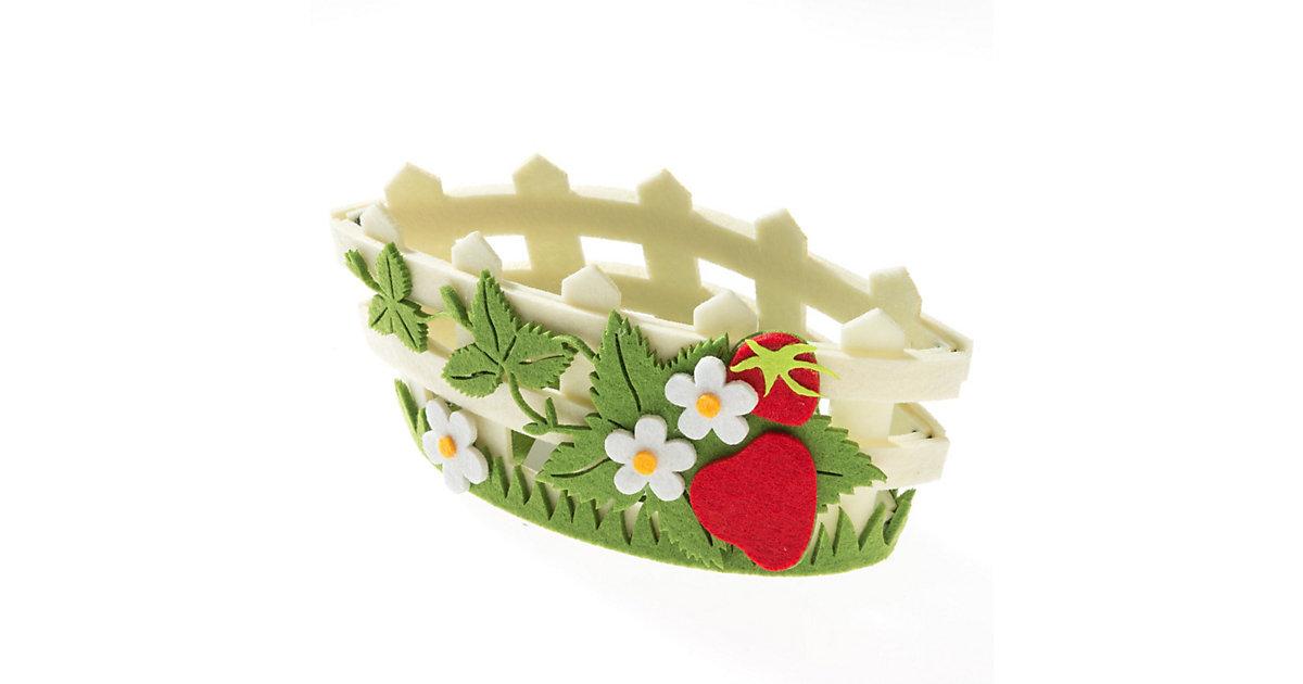 Kreativset Filz-Henkelkörbchen Blume/Blätter