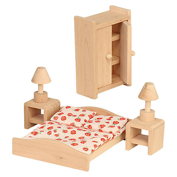 Puppenhausmöbel Schlafzimmer Holz, Beluga