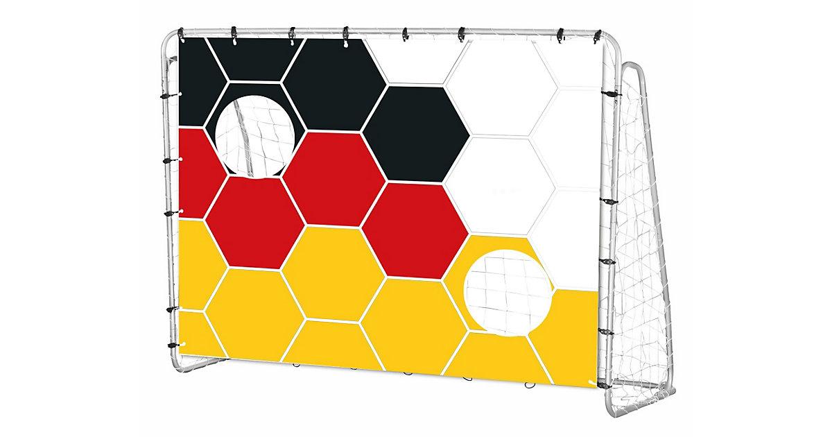 Fußballtor mit Deutschland-Torwand, 213 cm mehrfarbig