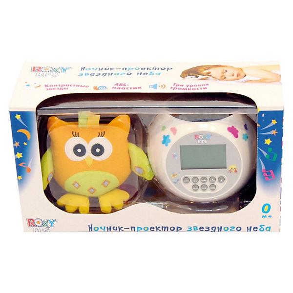 """Проектор звездного неба """"Olly"""" с игрушкой сова, Roxy-Kids"""