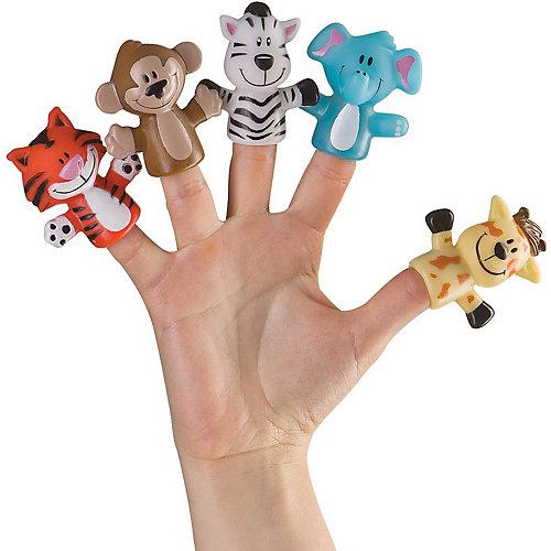 """Набор игрушек на пальцы """"Джунгли/сафари"""" FUN AMIGOS Happy Baby от Happy Baby"""