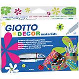 Фломастеры для декорирования Giotto, классические цвета, 6 шт