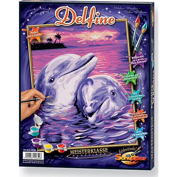Malen Nach Zahlen Delfine Schipper