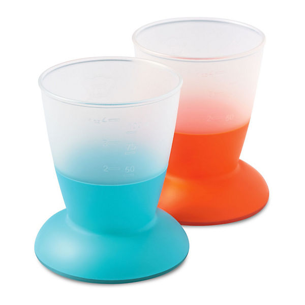 Trinkbecher, 2er Pack, Orange/ Türkis