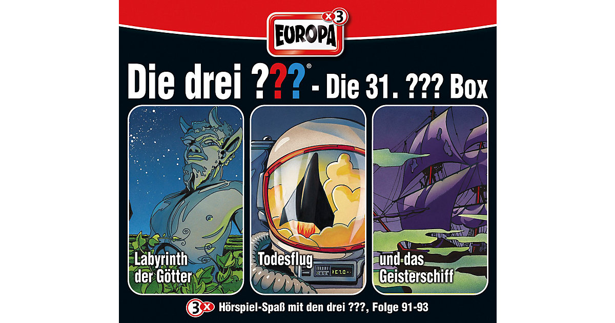 Sony · CD Die Drei ??? 31 - 3er Box (91-93)