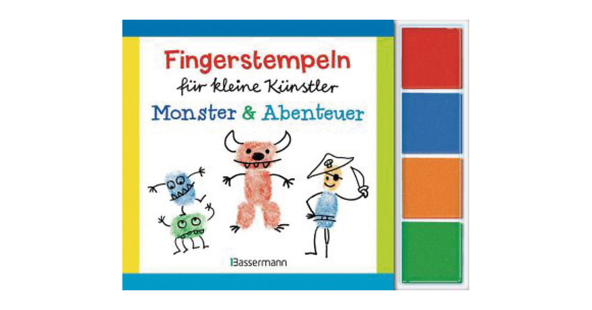 Fingerstempeln kleine Künstler-Set: Monster und...