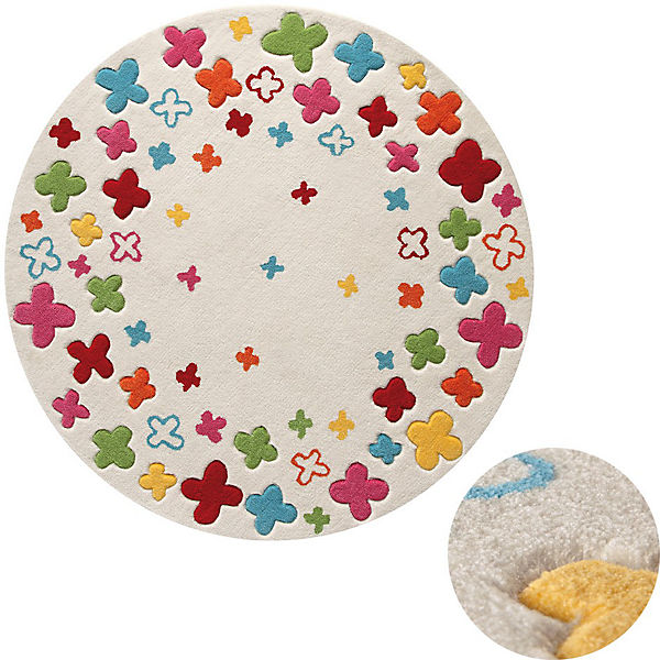 Kinderteppich blumenwiese  Kinderteppich Blumenwiese, beige, 100 cm, ESPRIT | myToys