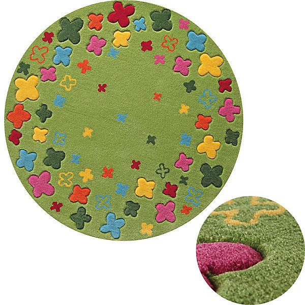 Kinderteppich blumenwiese  Kinderteppich Blumenwiese, grün, 100 cm, ESPRIT | myToys