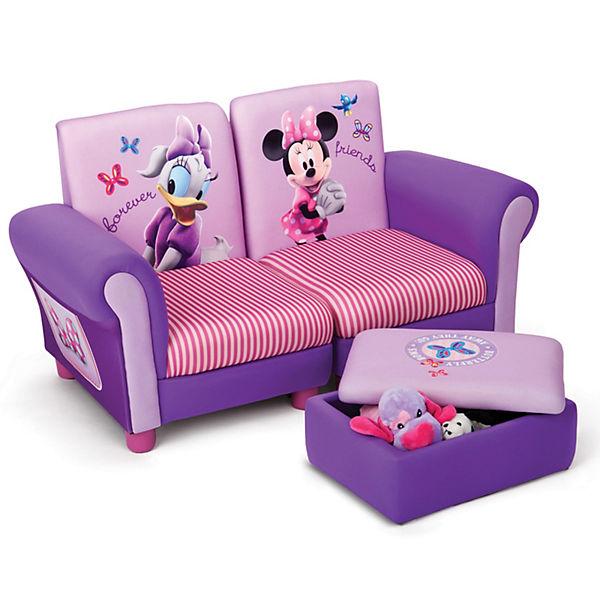 Sofa + Hocker gepolstert, Minnie Mouse, Disney Minnie Mouse